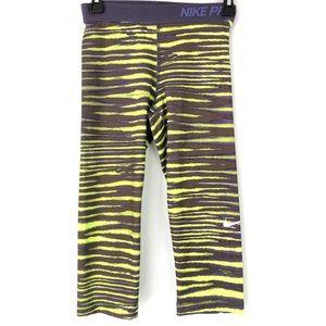 Nike Pro Dri fit Tiger Striped Cropped Leggings